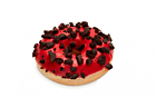 Red cookies donut